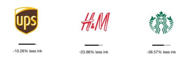 exemples de logos avec moins d'encre d'imprimerie